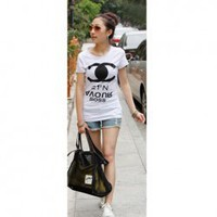 New Arrival Double C Printed Short Sleeve T-shirt China Wholesale - Sammydress.com