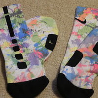 Paint Splatter Nike Elite Socks size 8-12