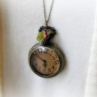 Pocket Watch Necklace Vintage Style Pocketwatch Jewelry Timepiece Clock