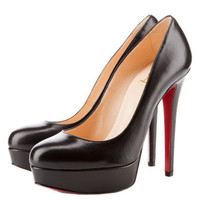 Christian Louboutin Bianca Leather Platform Pumps Black [2011110901] - &amp;#36;185.00 : Christian Louboutin Shoes Sale, Enjoy 77% Off On Designer Outlet