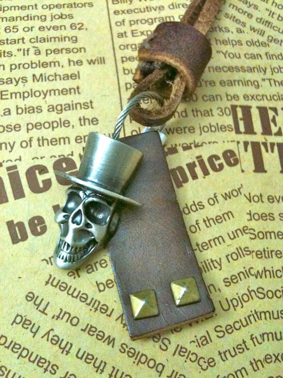 Antique silver pirates of Caribbean Necklace by Victorianstudio