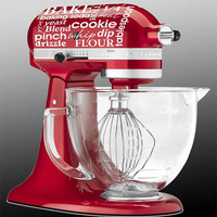 Kitchen Aid mixer subway art  cooking baking by GrabersGraphics