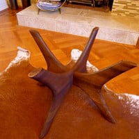 mid century MODERN solid walnut COFFEE TABLE base by CIRCA60