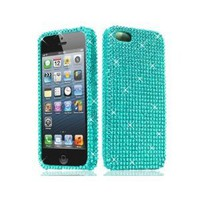 Snap-On Blue Full Diamond Case for Apple iPhone 5 5G