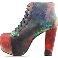 Jeffrey Campbell X BlackMilk Lita Fab in Rainbow Galaxy at Solestruck.com