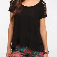 Daydreamer LA Studded Shoulder Tee