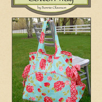 Bag Pattern, Diaper Bag, Sewing Bag, Beach Bag,  Grab and Go Bag by Cotton Way