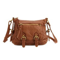 Mini Double Buckle Cross-Body Bag: Charlotte Russe