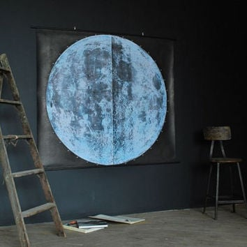 Very Large Moon Chart signed by AGC916 on Etsy