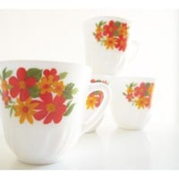 Hippie Tea Cups. Set Of 5 From The .. on Luulla