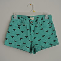 High Waisted Print Shorts