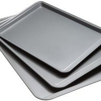 Good Cook Set Of 3 Non-Stick Cookie Sheet: Amazon.com: Kitchen & Dining