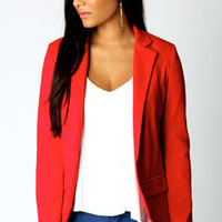 Alice Red Jersey Blazer