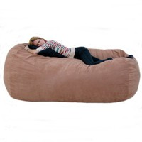 Amazon.com: 7-feet Xx-large Rust Cozy Sac Foof Bean Bag Chair Love Seat: Home &amp; Kitchen