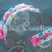 Paint Splatter Ruffle Headband from Cheri&#x27;s Creations
