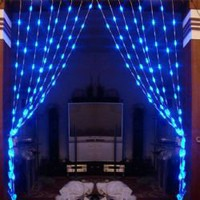 Fantastic AC110V 1Mx1.6M 64 Leds Light String For Home Decoration CIS-84060 (Blue)