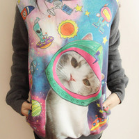 Space Galaxy Cat Sweater
