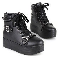 Ladies Lace Up Buckle St...