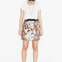 New hot body con high waist skirt with kitty cat print for women fashion 2012