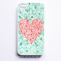 iPhone 4 Case Love is Colorblind Geometric Dots