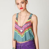 Mara Hoffman Printed Crop Top at Free People Clothing Boutique
