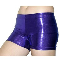 GemGear® Metallic Purple Spandex Volleyball Shorts - SIZE: Medium