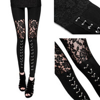 Moon Shine Apparel — Black Lace Leggings