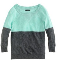 NWOT J.CREW Dream colorblock sweater SMALL. Cashmere in Great Conditions