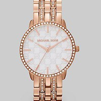 Michael Kors Women's MK3183 Nini Rose Gold Tone Stainless Steel Watch