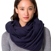 Amazon.com: American Apparel The Unisex Circle Scarf -Navy: Clothing