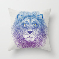 Face of a Lion Throw Pillow by Rachel Caldwell | Society6
