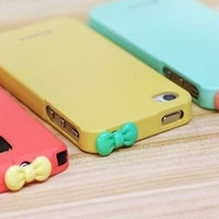 Christmas Gift Novelty Bowknot Minipol Ear Cap for iPhone 4S, iPhone 4, iPhone  3G/3GS, iPod, Cell Phone, MP3 & MP4, iPad, ect (Blue) China Wholesale - Everbuying.com