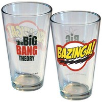 Big Bang Theory Bazinga Logo Pint Glass