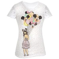 Minnie and Mickey Mouse Balloons Tee for Women | Disney Store