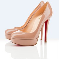 Christian Louboutin bianca camel platform pump - &amp;#36;175