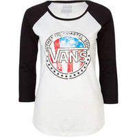 VANS Wanderer Womens Baseball Tee 206416125 | L/S tees &amp; Raglans | Tillys.com