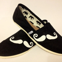 MOVEMBER Mustache  Toms Shoes by KayKreativeStudio on Etsy