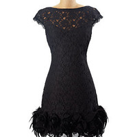 SHORT SLEEVE LACE DRESS - Short Dresses - DRESSES - Jessica Simpson Collection