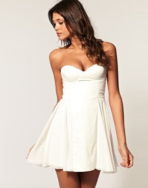ASOS | ASOS Strapless Skater Dress with Sweetheart neckline at ASOS