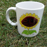 Plants vs. Zombies Hand-Drawn Ceramic Mug, Sunflower: 5th in a Series of 7