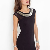 Metal 'n' Mesh Dress - Black in Clothes at Nasty Gal