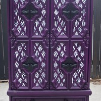 Plum and Zebra Dresser/Wardrobe by JunqueFurniture