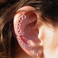 Ear cuff - Sweet Breeze Silver wire wrapped ear cuff.