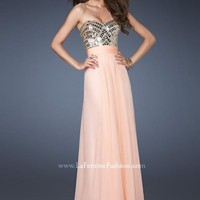 Photos of La Femme Dress 18518 at Peaches Boutique