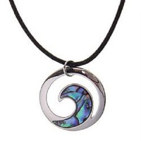 Characteristic Sea Wave Pendant Shell Necklace Chain Neck Ornament