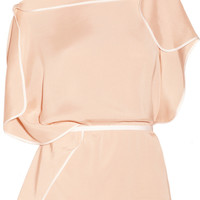 Chloé | Draped sateen top | NET-A-PORTER.COM