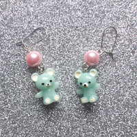 Sweet Teddy Bear Earrings