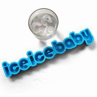 Ice Ice Baby | Buy Suck UK Novelty Ice Trays Ice Letters - Buy at Drinkstuff