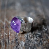 Amethyst Gumdrop Ring by dollybirddesign on Etsy