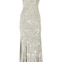 Rachel Gilbert Issy sequined silk gown - 60% Off Now at THE OUTNET